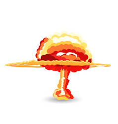 Nuclear explosion cartoon vector