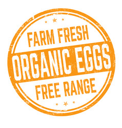 organic eggs sign or stamp vector image