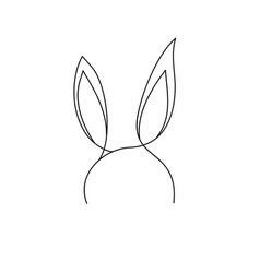 outline bunny ears on white vector image