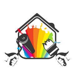 painting housing silhouette vector image