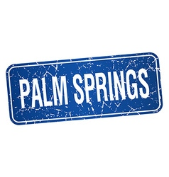 Palm springs blue stamp isolated on white vector