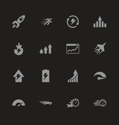 Performance - flat icons vector