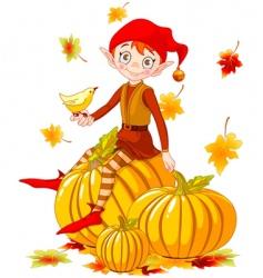 Pumpkin elf vector