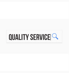 quality service word magnifying glass vector image