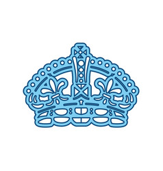 Queen crown symbol vector