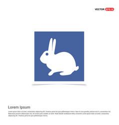 Rabbit icon - blue photo frame vector