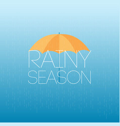 Rainy season april showers may flowers template vector
