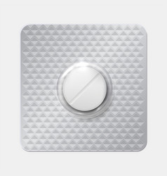 Realistic pill blister drug in blister pack vector