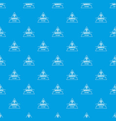 robot future pattern seamless blue vector image