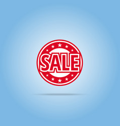 sale label red color isolated on white vector image