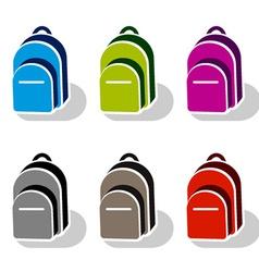 School bag icons vector
