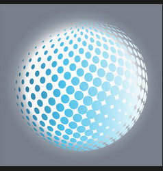 Set abstract halftone 3d spheres 11 vector