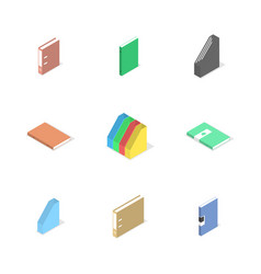 set of cardboard file folders vector image