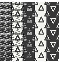 Set of geometric line monochrome abstract hipster vector image