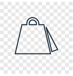 shopping bag concept linear icon isolated on vector image
