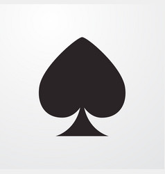 Spade poker card sign icon poker card vector