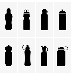 Sports water bottles vector