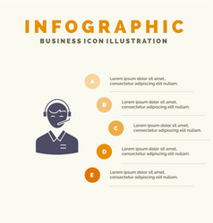 support business consulting customer man online vector image