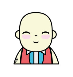 Tender businessman with elegant clothes and kawaii vector