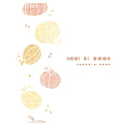 Thanksgiving pumpkins textile vertical border vector