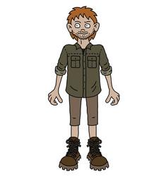 the funny redhead adventure boy vector image