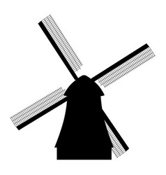 Traditional rural windmill vector