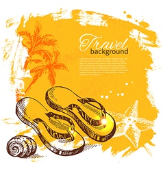 Travel and holiday background vector