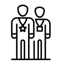 Two vip persons icon outline style vector