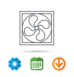 Ventilation icon fan or propeller sign vector