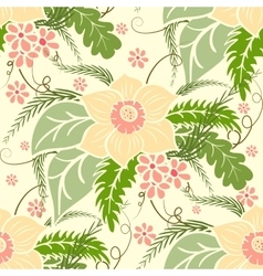 Vintage floral seamless pattern Large bouquets of vector image