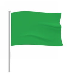 Waving green flag tempalte vector