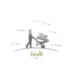 Wealth concept hand drawn isolated vector