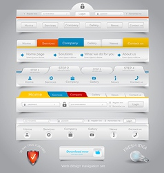 Web site navigation menu pack 22 vector