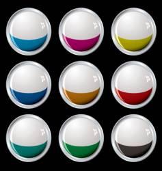 white top button silver vector image vector image