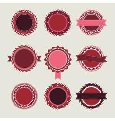 Wine vintage badges templates vector image