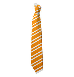 yellow striped tie icon isometric style vector image