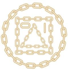golden chain elements vector image vector image