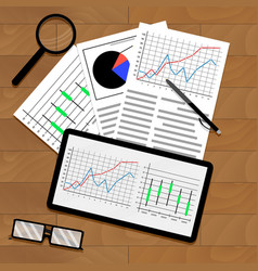 Statistical data on table vector