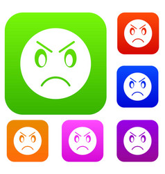 annoyed emotset collection vector image vector image