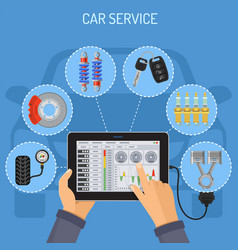 car service and maintenance concept vector image vector image