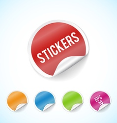 colorfull circle stickers colorful set eps 10 vector image vector image