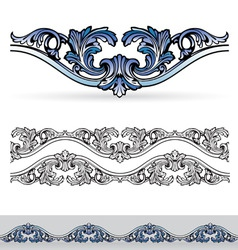 filigree design elements vector image vector image