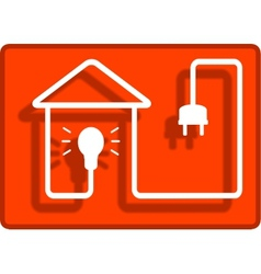 lighting in the house symbol vector image vector image