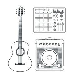 Music technology equipment vector image