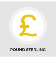 Pound sterling icon vector image