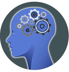 Psychology mind gear vector