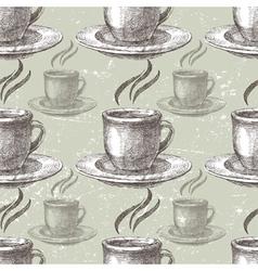 hand drawn tea seamless vector image vector image
