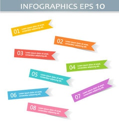 Modern infographics colorful stickers design vector image