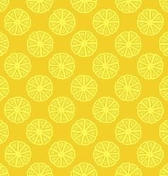 yellow lemon seamless pattern vector image