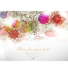 Colourful retro background with floral elements vector